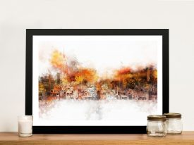 Buy a Framed Canvas Print of The Skyline