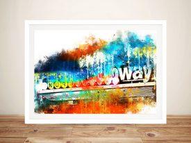 Buy Manhattan Subway a Stretched Canvas Print