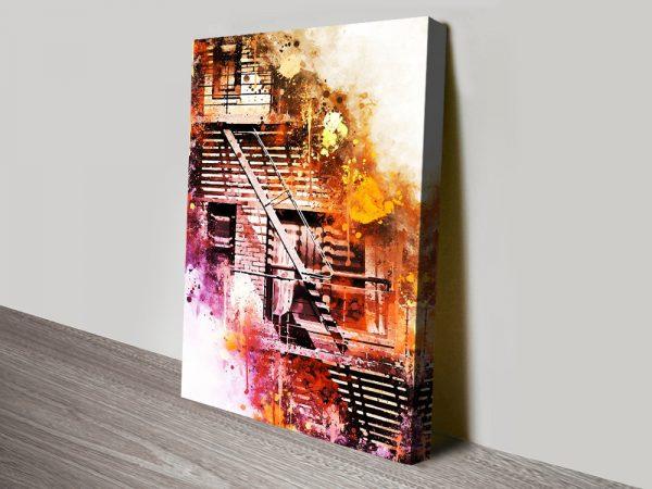 Buy Fire Escape a NYC Watercolour Print Online