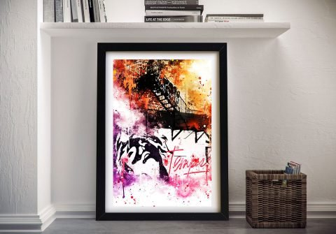 Buy Colours Mind Framed Canvas Wall Art