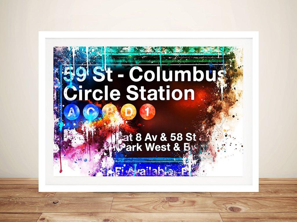 Buy 59St Columbus Circle Station Wall Art