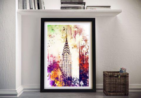 Buy a Framed Canvas Print of Chrysler Building