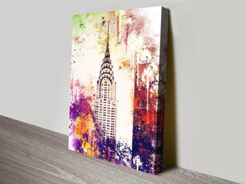 Buy Chrysler Building Affordable Canvas Art AU