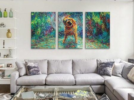 Buy Shakin' Jake Triptych Wall Art by Iris Scott