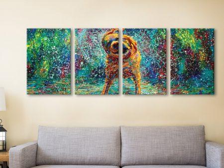 Buy Shakin' Jake - Iris Scott 4-Panel Canvas Art
