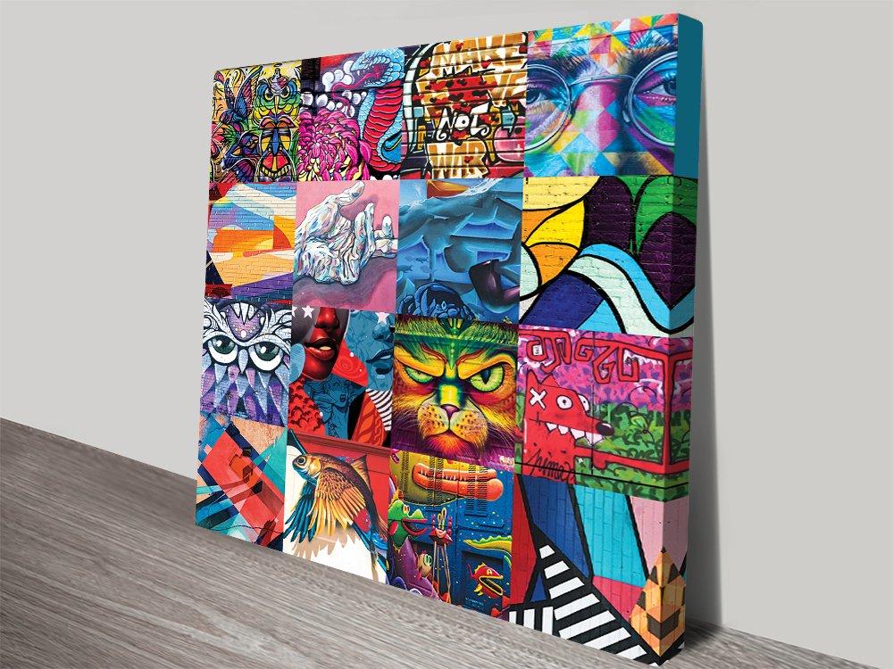 Graffiti Collage WallArt PrintsNoosaAustralia.