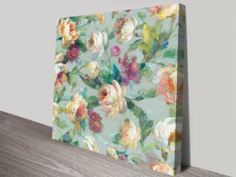 Buy Summer Garden Pattern l Floral Canvas Art