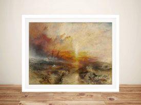Buy a Framed Canvas Print of The Slave Ship