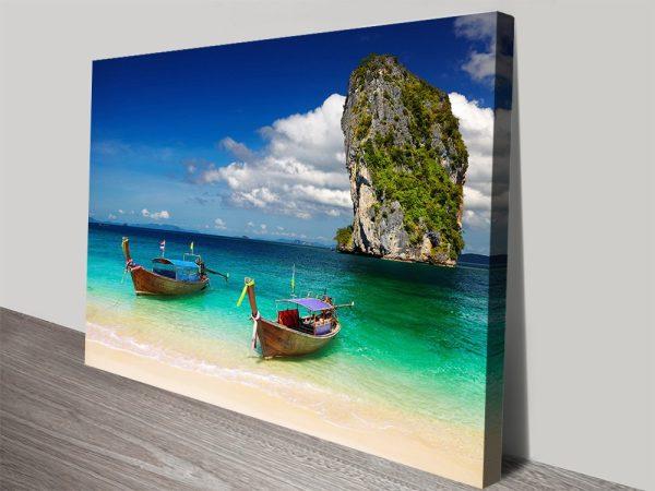 Idyllic Andaman Beach Scene Canvas