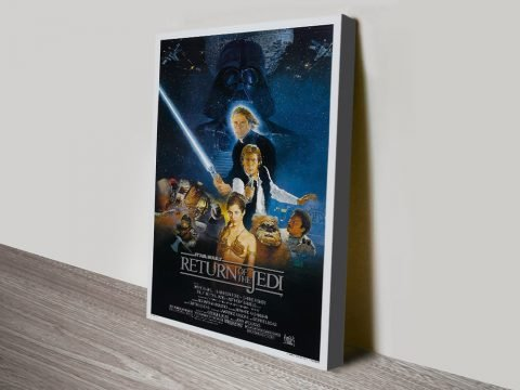 Star Wars Return of the Jedi Poster on Canvas