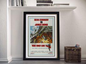 You Only Live Twice VintageJames BondMovie Poster Art