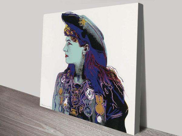 Annie Oakley Warhol Canvas print
