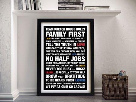 Custom Framed Word Art Melbourne
