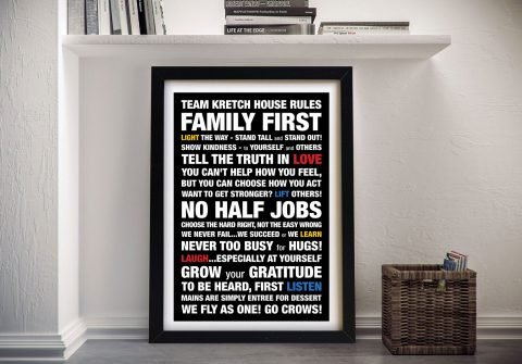 Custom Framed Word Art Melbourne