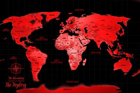 Red Personalised Map Australia