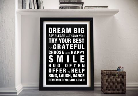 House Rules Custom Word Picture Online Melbourne