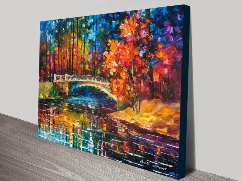 Buy Flowing Under the Bridge Cheap Canvas Art