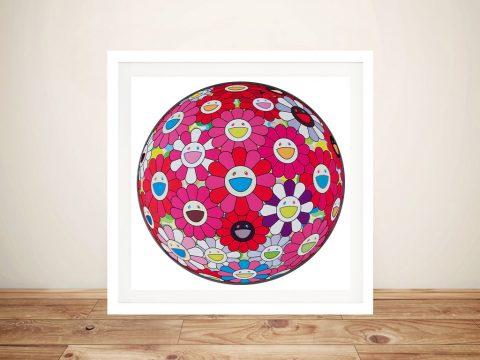 Buy Flower Ball 3D Turn Red Takashi Wall Art