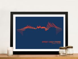 Buy Sweet Child of Mine Soundwave Canvas Art