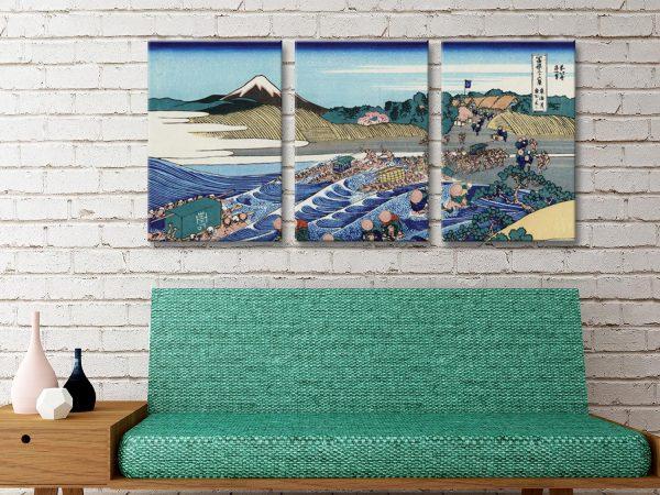 Buy Fuji From Kanaya Hokusai 3-Panel Art