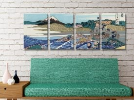 Buy Fuji From Kanaya Hokusai 4 Panel Artwork