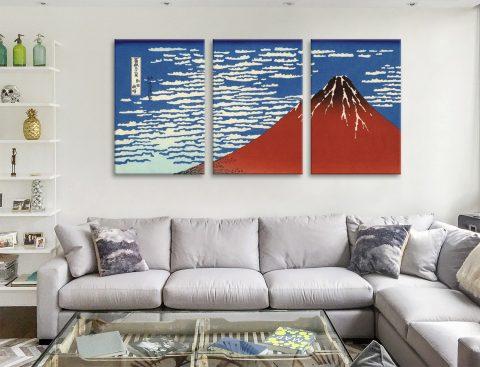 Buy Red Fuji Southern Wind Triptych Art