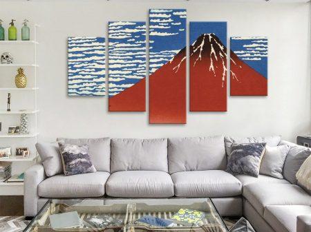 Buy Red Fuji Southern Wind Diamond Split Canvas