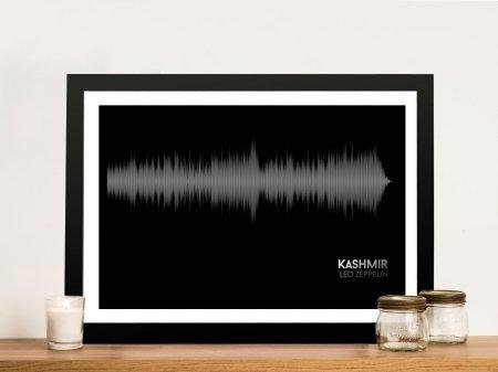 Led Zeppellin Kashmir Linear Soundwave Framed Wall Art
