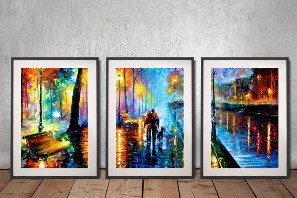 Buy Leonid Afremov Triptych Art Cheap AU