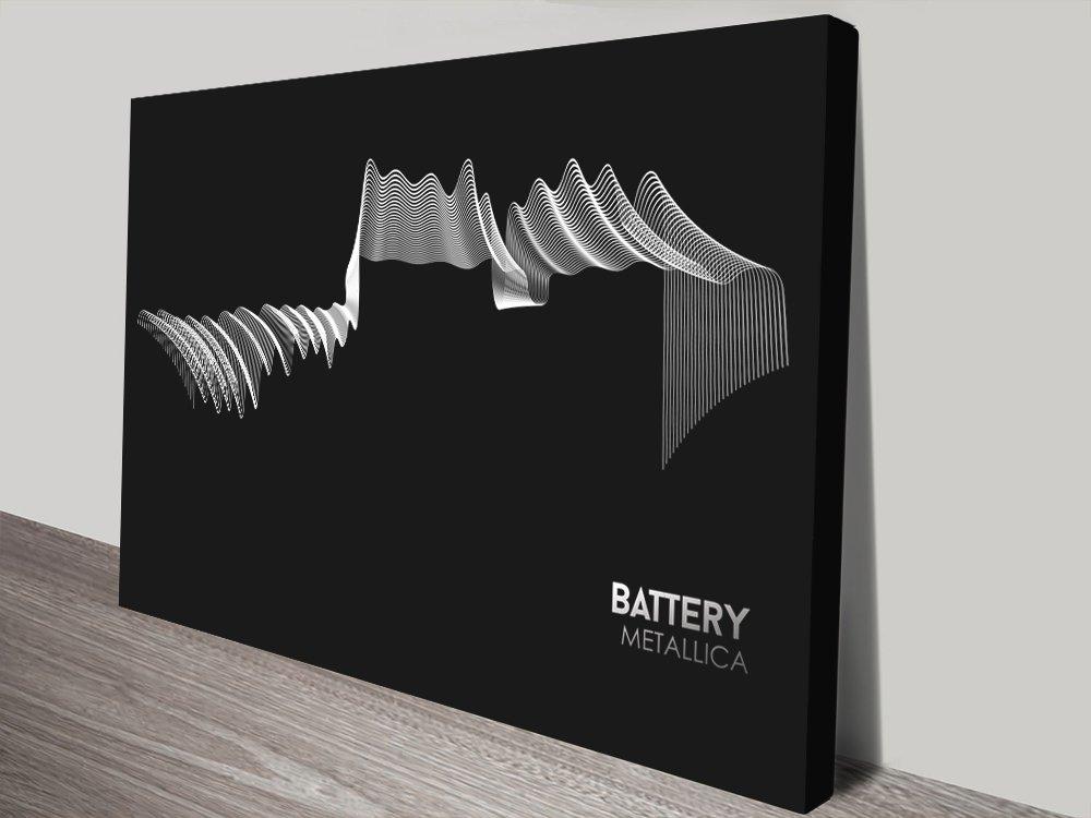 Metallica Battery Twisted Sonics Soundwave Art