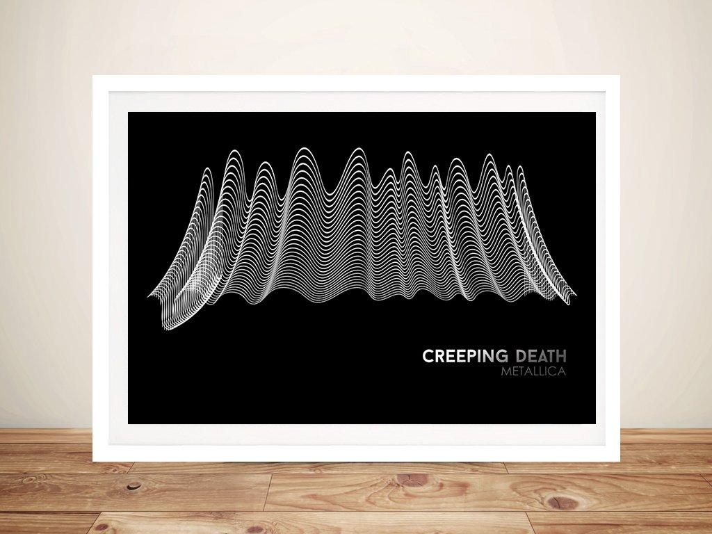 Metallica Creeping Death Black & White Waveform Art
