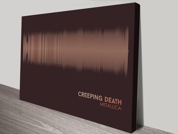 Metallica Creeping Soundwave Art Canvas Print