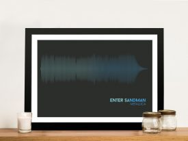 Metallica Enter Sandman Linear Soundwave Framed Wall Art