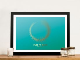 Buy Turquoise Metallica Soundwave Wall Art