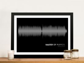 Metallica Master Of Puppets Linear Soundwave Framed Wall Art
