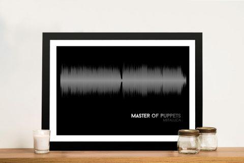 Metallica Master Of Puppets Linear Soundwave Framed Wall Art