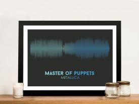 Metallica Master of Puppets Soundwave Framed Wall Art