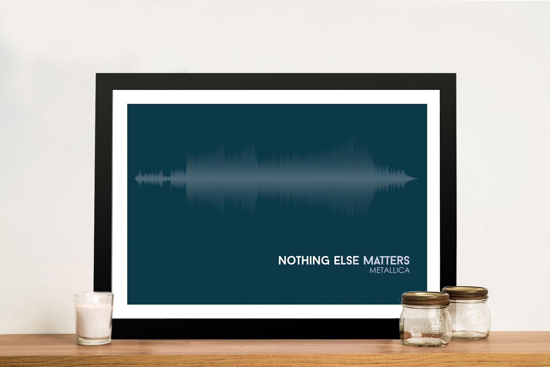 Metallica Nothing Else Matters Linear Soundwave Framed Wall Art