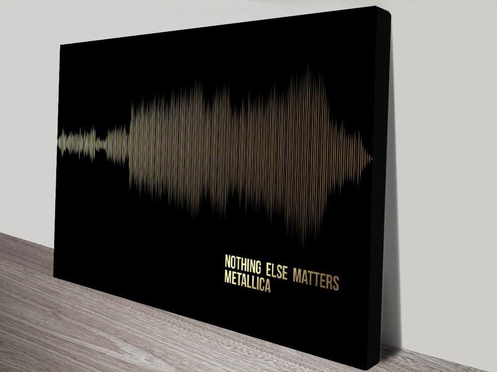 Metallica Nothing Else Matters_Fine-Style-Soundwave Art Gold Canvas Print