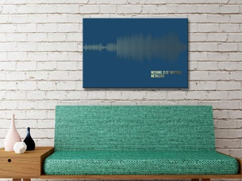 Metallica Nothing Else Matters Soundwave Canvas Artwork