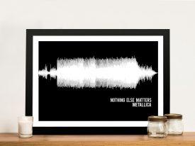Metallica Nothing Else Matters Soundwave Art