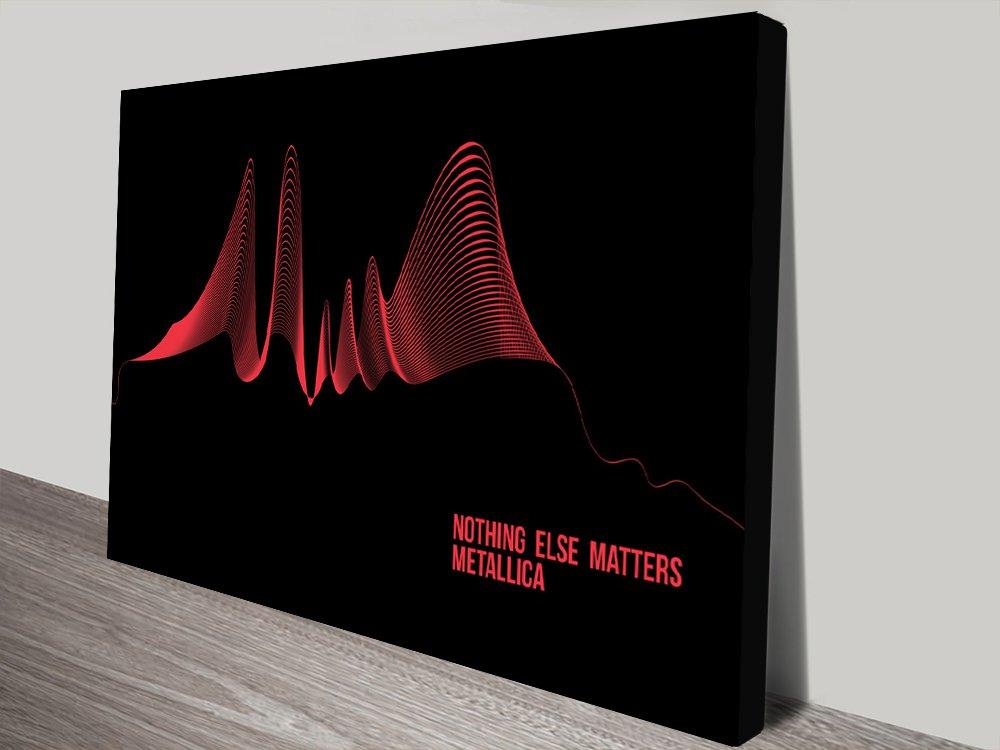 Metallica Soundwave Art Canvas Print