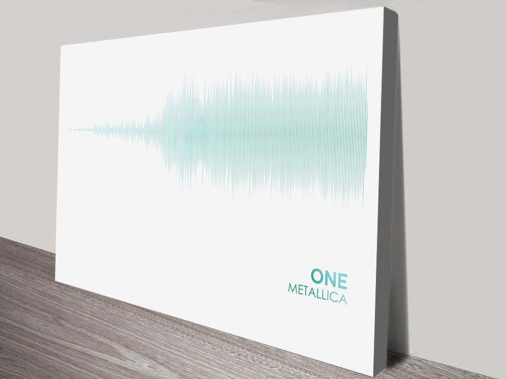 Metallica One Soundwave canvas print