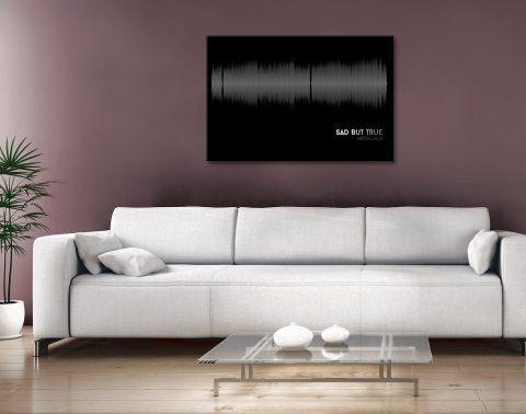 Buy Cheap Soundwave Wall Art Feat Metallica AU