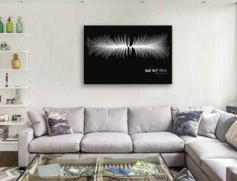 Buy Metallica Soundwave Canvas Wall Art Brisbane