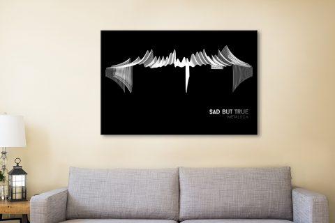Buy Sad But True Metallica Wall Art Print