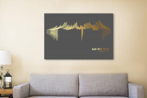 Soundwave Metallica Canvas Art Gift Ideas AU