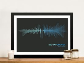 Metallica The Unforgiven Waveform Framed Wall Art