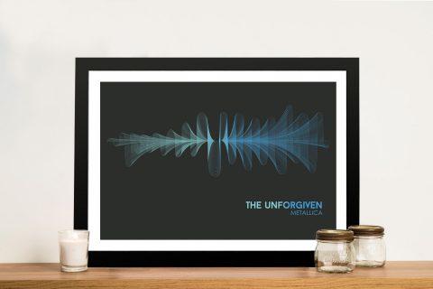 Metallica The Unforgiven Waveform Framed Wall Art