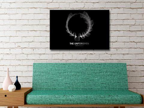 Metallica Black and White Circular Phonics Art